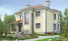 Проект кирпичного дома 40-19