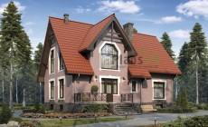 Проект кирпичного дома 40-29
