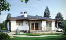 Проект кирпичного дома 40-34