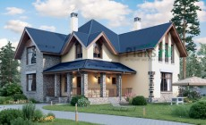 Проект кирпичного дома 40-37