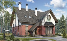 Проект кирпичного дома 40-41