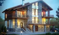 Проект кирпичного дома 40-43