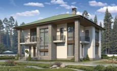 Проект кирпичного дома 40-46