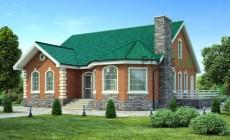 Проект кирпичного дома 40-52