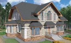 Проект кирпичного дома 40-55
