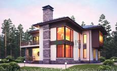 Проект кирпичного дома 40-56