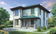 Проект бетонного дома 40-73