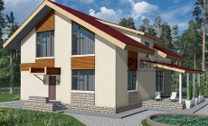 Проект кирпичного дома 40-76