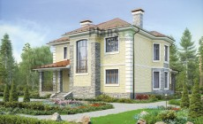 Проект кирпичного дома 40-77