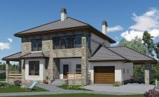 Проект бетонного дома 40-80