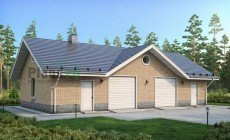 Проект кирпичного дома 40-90