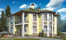 Проект кирпичного дома 41-18