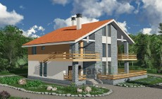 Проект кирпичного дома 41-27