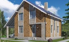 Проект кирпичного дома 41-30
