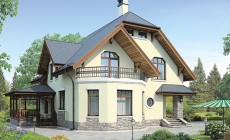 Проект кирпичного дома 41-37