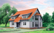 Проект бетонного дома 50-29
