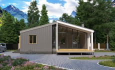 Проект каркасного дома 63 кв.м / Артикул ИВ-174