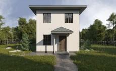 Проект дома для узкого участка - 104 кв.м /Рок-143