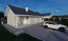 Готовый проект дома 83 кв.м // Артикул Каюр -180.1
