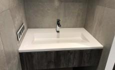 Столешница и раковина для ванной комнаты из искусственного камня Staron EY510 Metallic Yukon