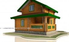Дом из бруса с террасой