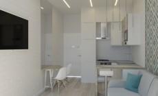 Кухня-гостиная квартиры в Геленджике.