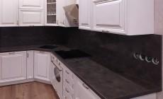 Кухонная столешница с фартуком из искусственного камня Hi-Macs M303 Capri с текстурой металла