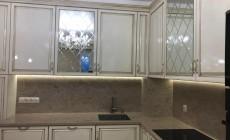 Столешница с кухонным фартуком из искусственного камня Corian Windswept Prima
