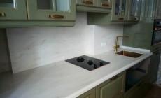 Столешница с кухонным фартуком из искусственного камня Corian Sand Storm