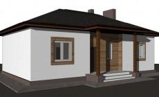 Готовый проект дома 85 кв.м // Артикул ТА-218
