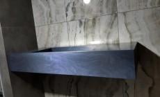 Столешница с прямоугольной раковиной из искусственного камня Corian Evening Prima
