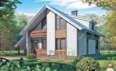Проект бетонного дома 51-40
