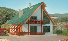 Проект бетонного дома 51-66