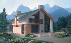 Проект бетонного дома 51-67