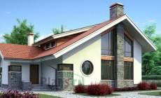 Проект бетонного дома 52-74