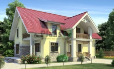 Проект бетонного дома 53-15