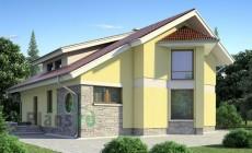 Проект бетонного дома 53-17