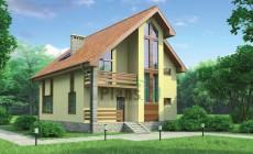 Проект бетонного дома 53-52