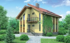 Проект бетонного дома 53-53