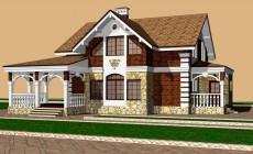 Двухэтажный жилой дом 005