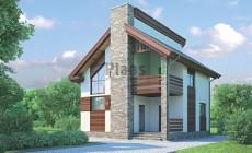 Проект бетонного дома 53-89