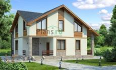 Проект бетонного дома 54-00