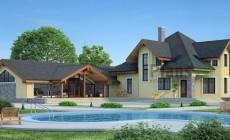 Проект бетонного дома 54-02