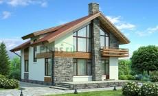 Проект бетонного дома 54-05