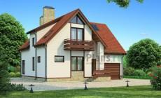 Проект бетонного дома 54-07