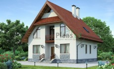 Проект бетонного дома 54-22
