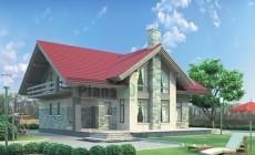 Проект бетонного дома 54-28