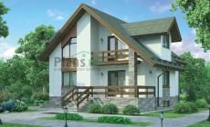 Проект бетонного дома 54-34