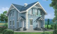 Проект бетонного дома 54-36