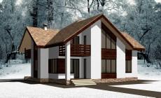 Двухэтажный жилой дом 003